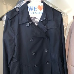 Burberry Sandringham Short Trench Coat , Black